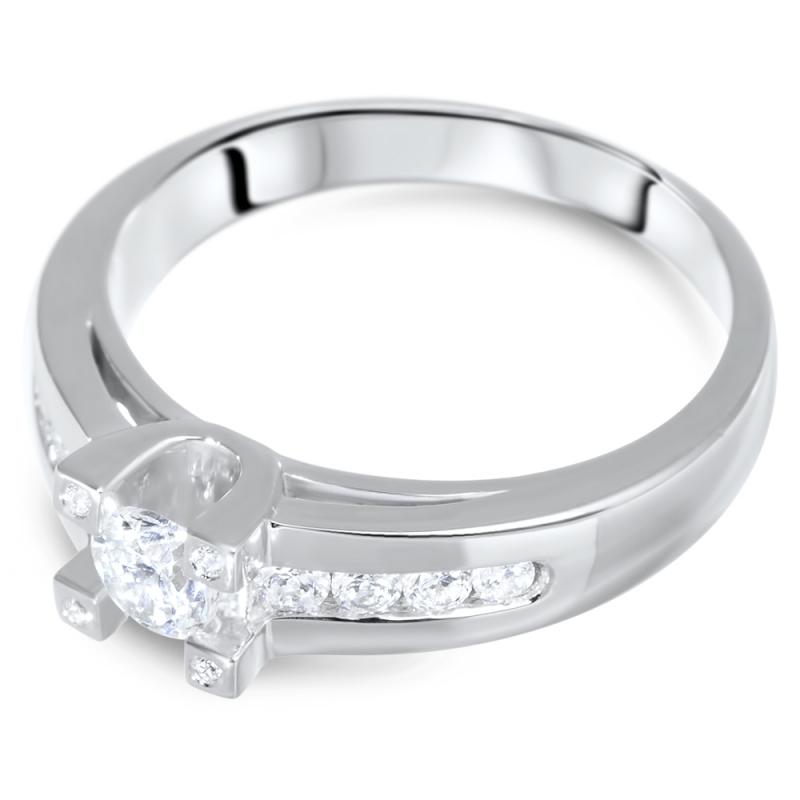 Sterling Silver Zirconia Ring, Deliciosa