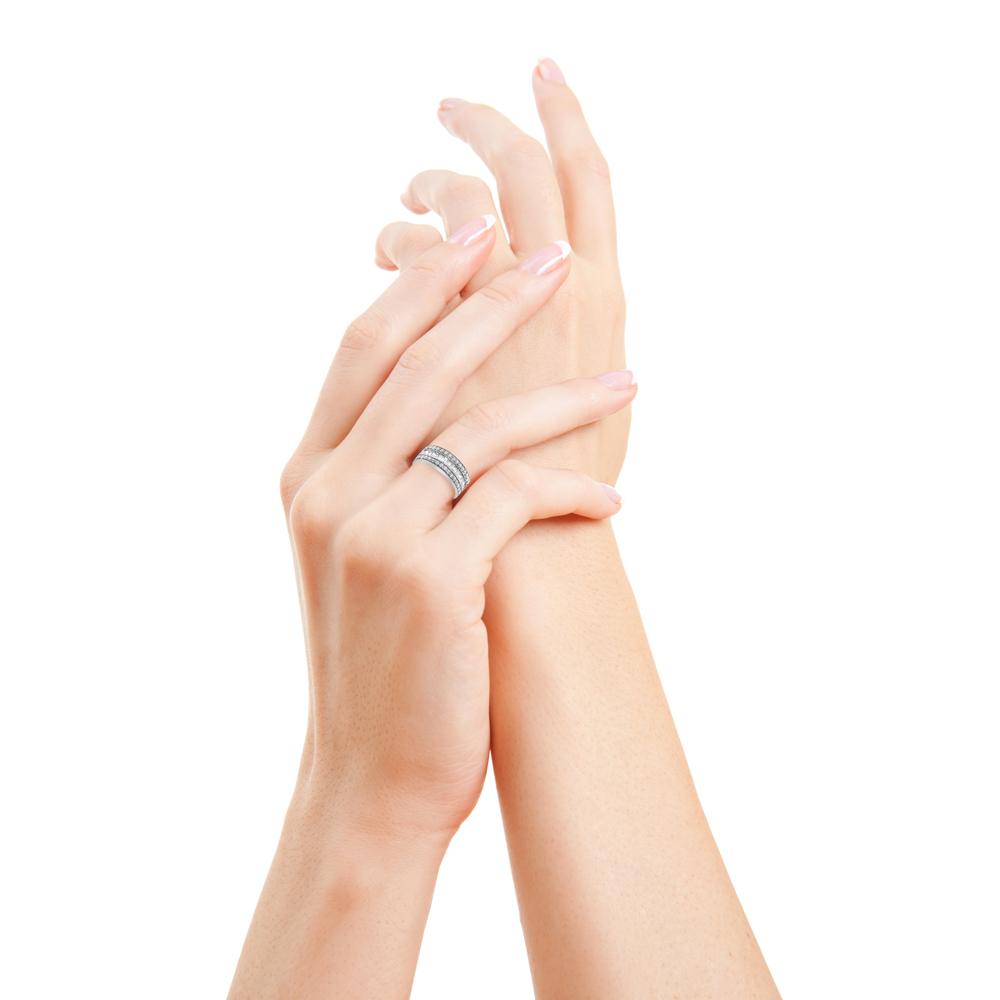 daisie bague or blanc diamants bague fiançailles mariage diveene joaillerie