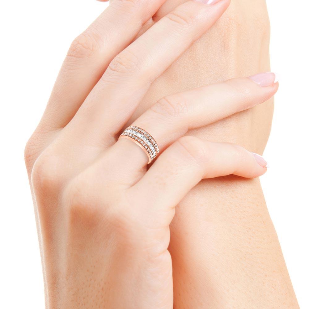 daisie bague or rose diamants bague fiançailles mariage diveene joaillerie