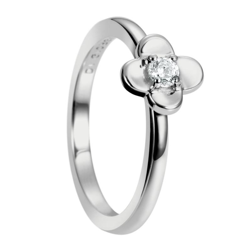 Sterling Silver Zirconia Ring, ?laa