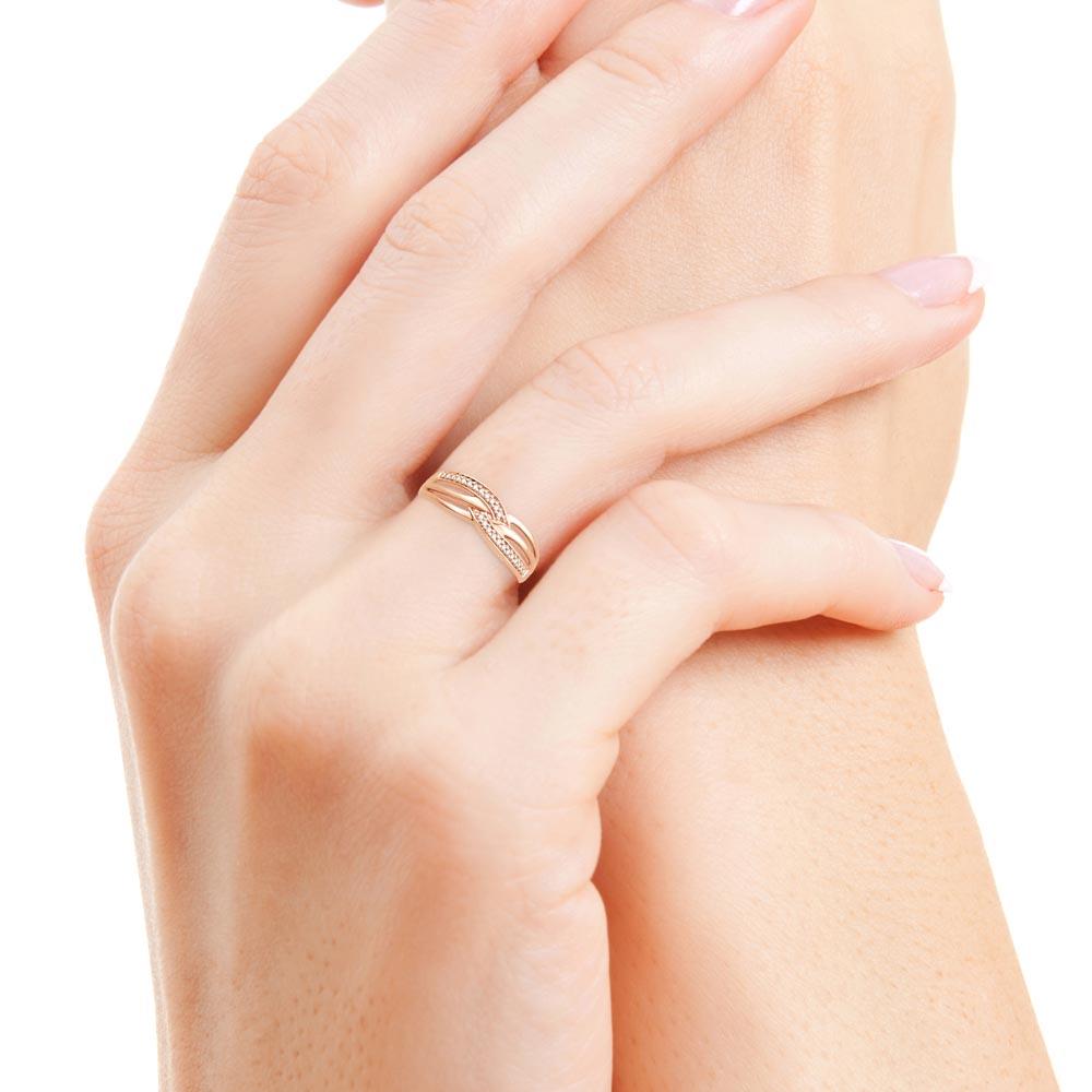 emmene moi bague or rose diamants bague fiançailles mariage diveene joaillerie