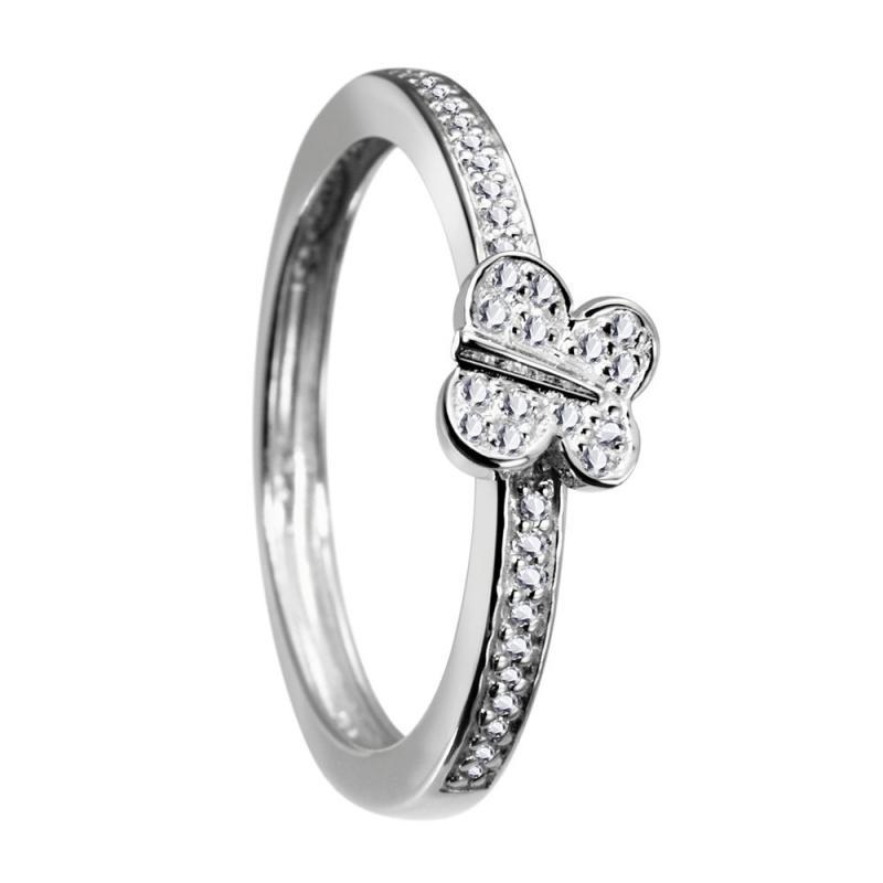 Sterling Silver Zirconia Ring, Caramel