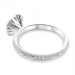 bague round shadow haute joaillerie parisienne or et diamants fabrication artisanale diveene joaillerie