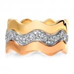 alliance trio vague twisty haute joaillerie parisienne or diamants fabrication artisanale diveene joaillerie