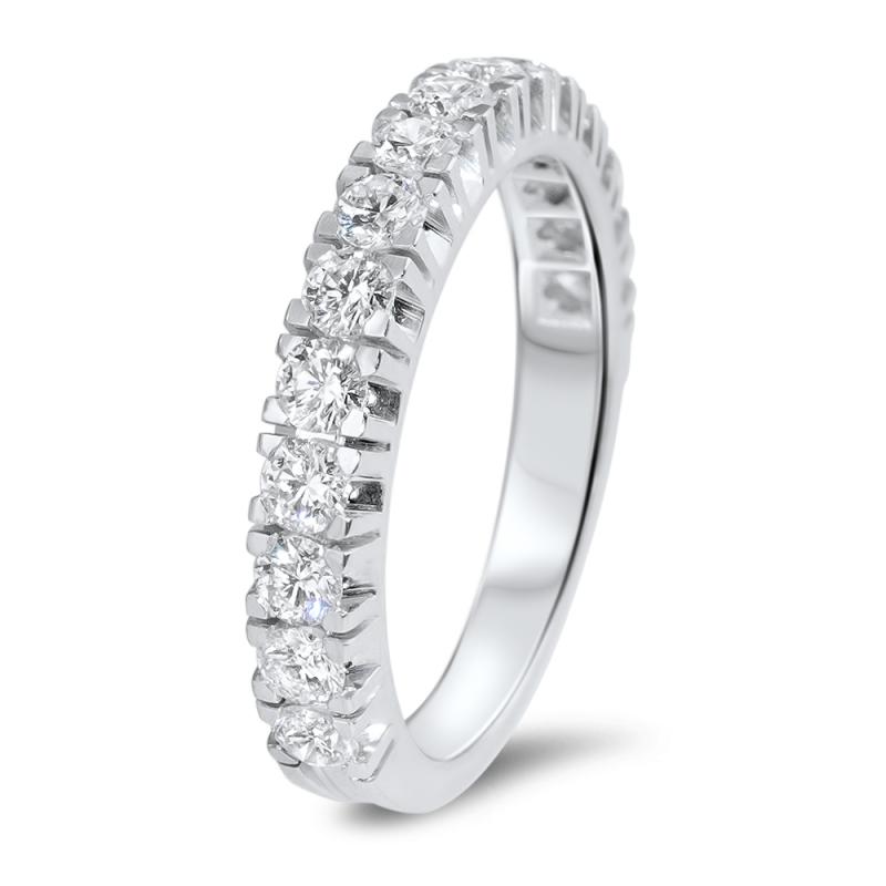 Alliance Or Blanc Palladié, Diamants , Naya
