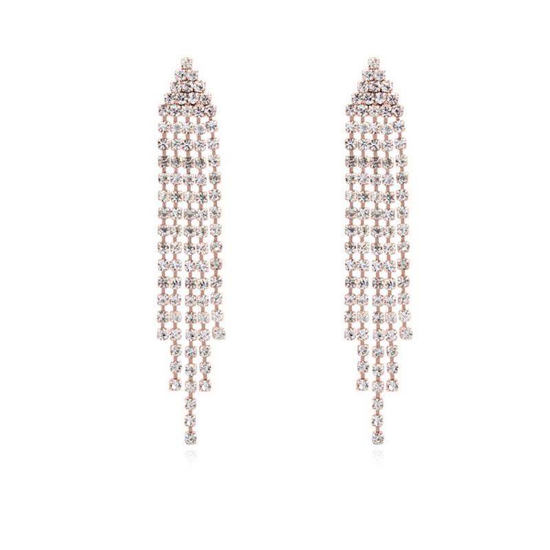 Boucles d'oreilles finitionor rose, Cristal Swarovski , Britt