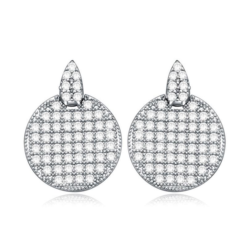 Boucles d'oreilles plaqué or blanc, Cristal Swarovski , Octavia
