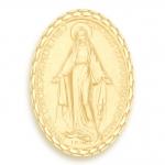 medaille bapteme naissance or jaune 17 mm miraculeuse diveene joaillerie