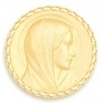 medaille bapteme naissance or jaune 17 mm annonciation diveene joaillerie