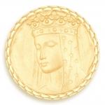 medaille bapteme naissance or jaune 17 mm vierge aux etoiles diveene joaillerie