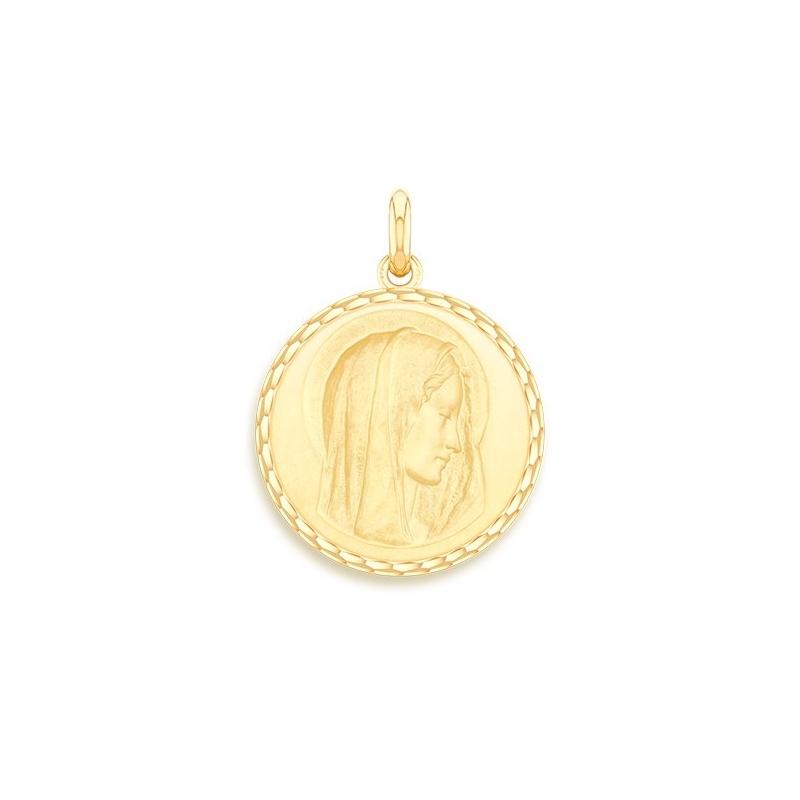 Médaille Baptême Naissance Or jaune , Virgo Dulcis