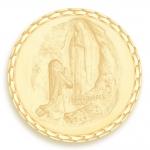 medaille bapteme naissance or jaune 17 mm apparition diveene joaillerie
