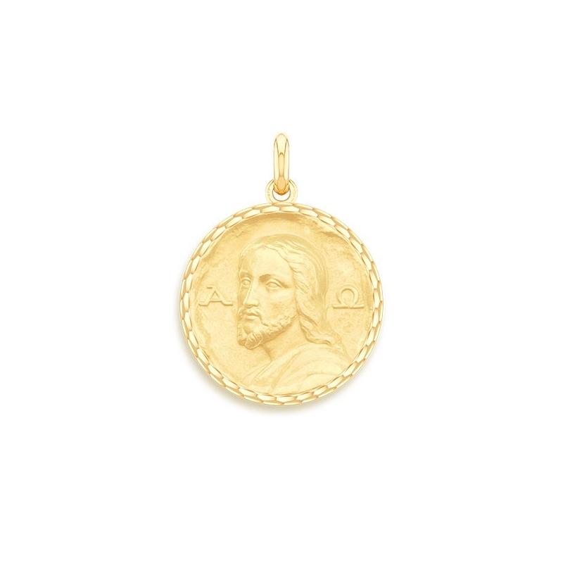 Médaille Baptême Naissance Or jaune , Christ Des Catacombes