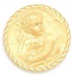 medaille bapteme naissance or jaune 17 mm jesus diveene joaillerie