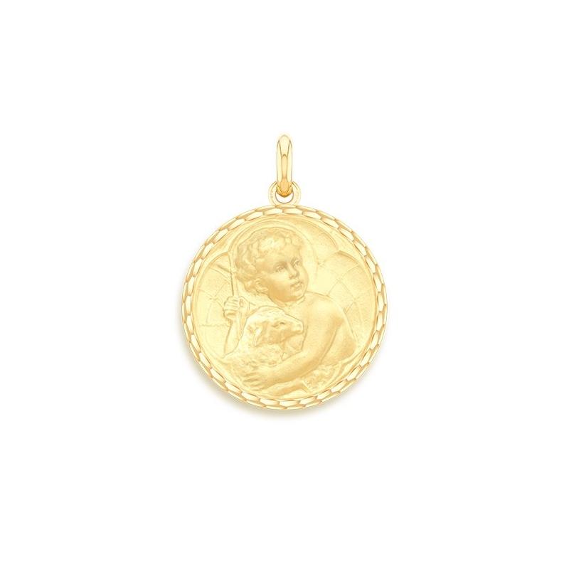 Médaille Baptême Naissance Or jaune , Jésus