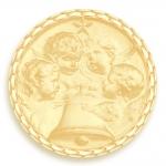 medaille bapteme naissance or jaune 17 mm angelus diveene joaillerie