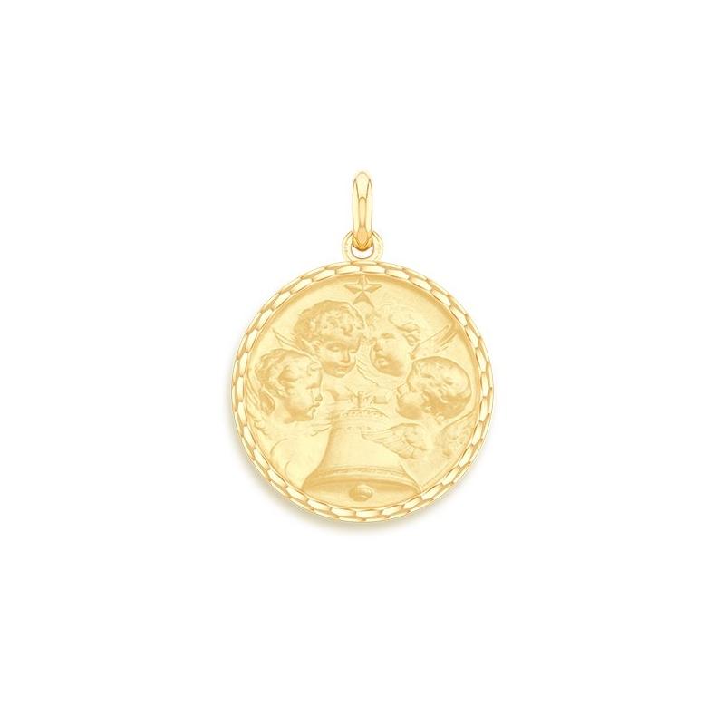 Médaille Baptême Naissance Or jaune , Angélus