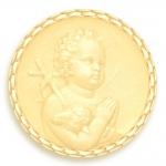 medaille bapteme naissance or jaune 17 mm saint jean diveene joaillerie