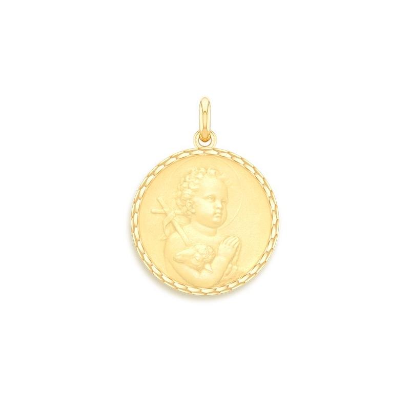 Médaille Baptême Naissance Or jaune , Saint Jean