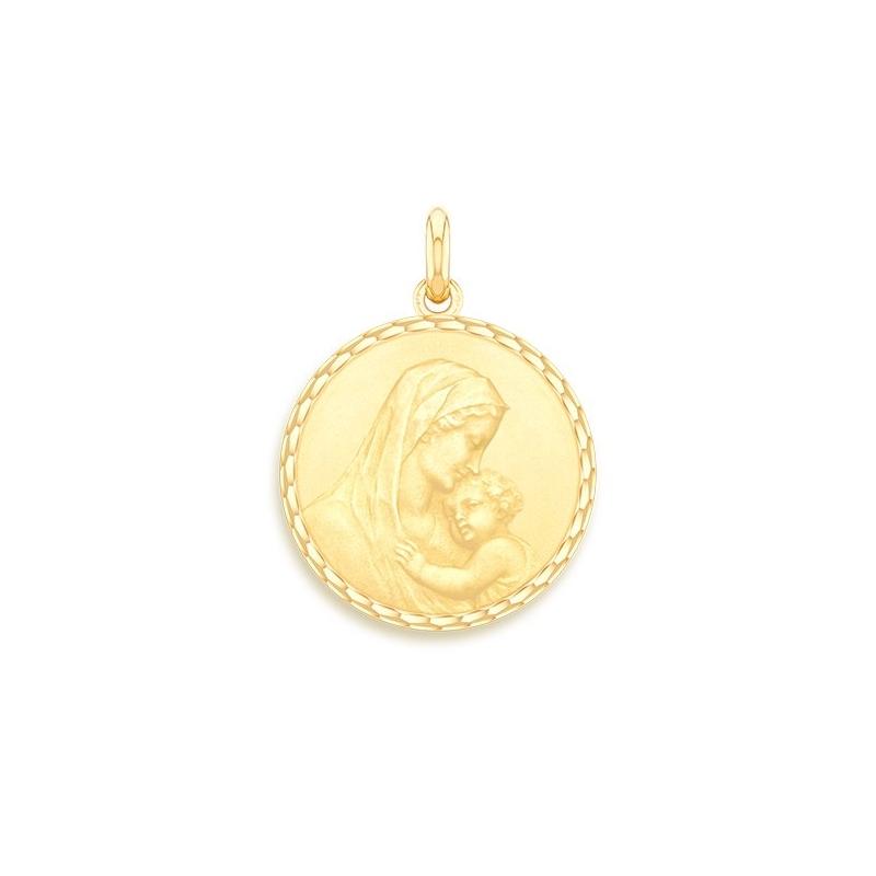 Médaille Baptême Naissance Or jaune , Maternité