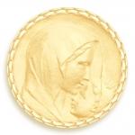 medaille bapteme naissance or jaune 17 mm le baiser diveene joaillerie