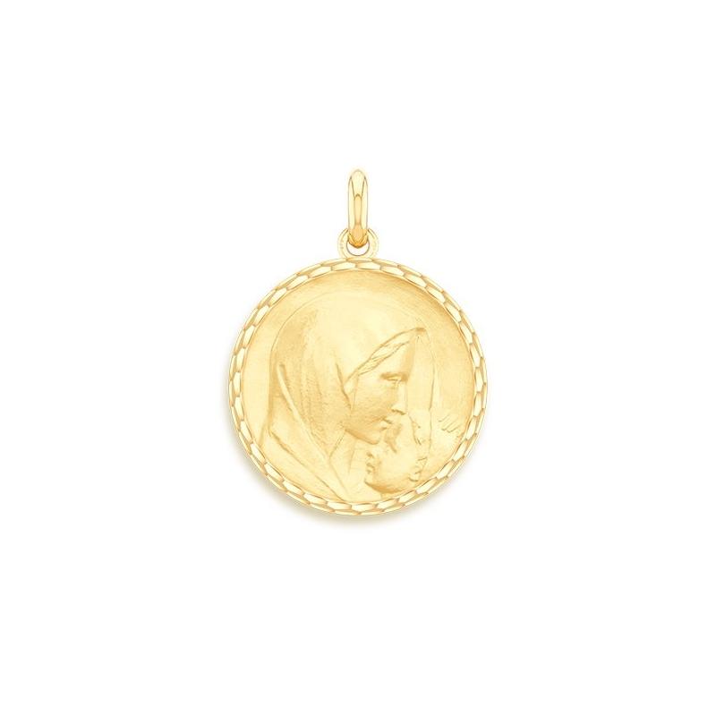 Médaille Baptême Naissance Or jaune , Le Baiser
