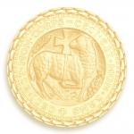 medaille bapteme naissance or jaune 17 mm agneau mystique diveene joaillerie