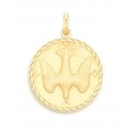 medaille bapteme naissance or jaune 17 mm saint esprit diveene joaillerie