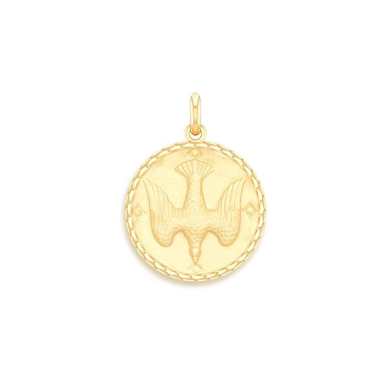 Médaille Baptême Naissance Or jaune , Saint Esprit
