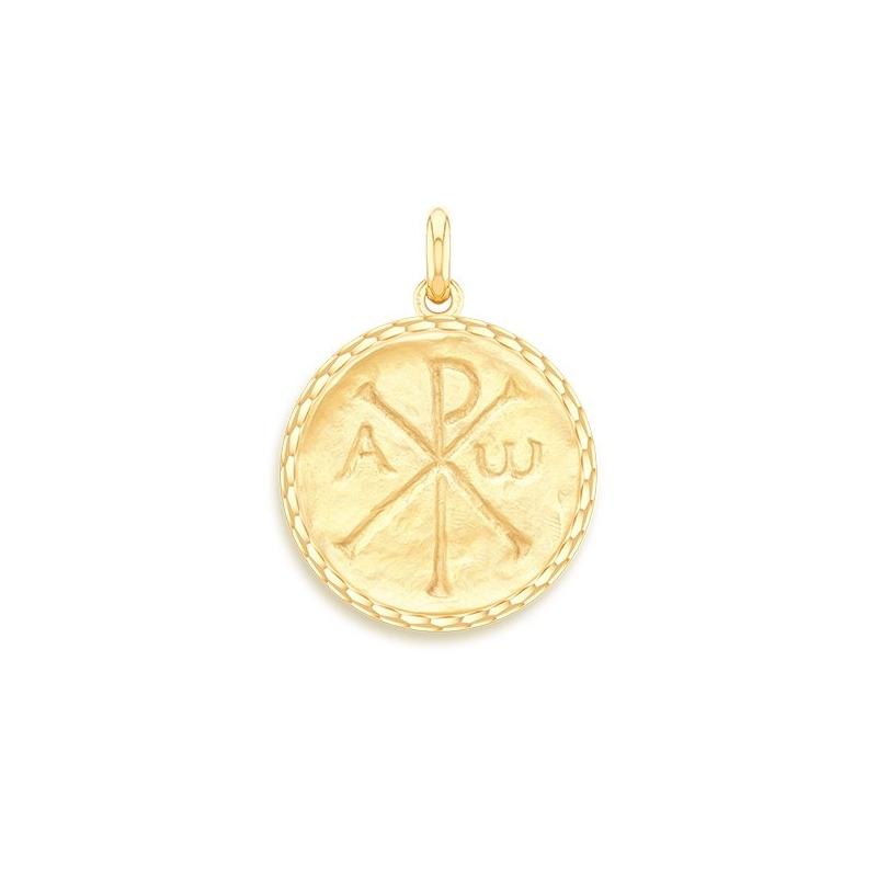 Médaille Baptême Naissance Or jaune , Chrisme