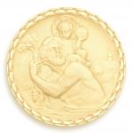 medaille bapteme naissance or jaune 17 mm saint Christophe diveene joaillerie