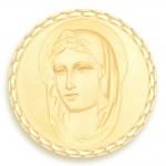 medaille bapteme naissance or jaune 17 mm sainte diveene joaillerie