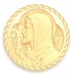 medaille bapteme naissance or jaune 17 mm saint patrick diveene joaillerie