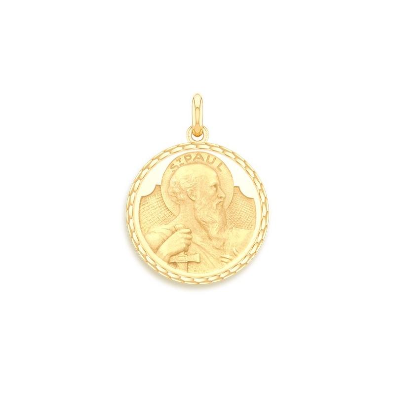 Médaille Baptême Naissance Or jaune , Saint Paul