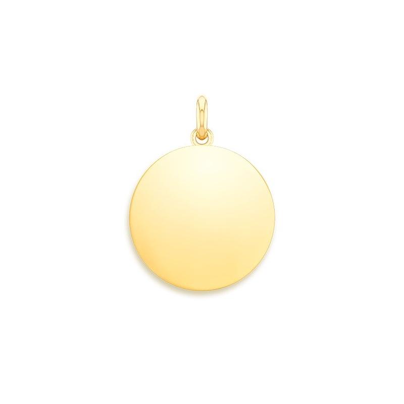 Médaille Naissance Or jaune , Disque poli à graver
