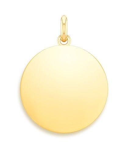 medaille bapteme naissance or jaune 17 mm jeton à graver diveene joaillerie