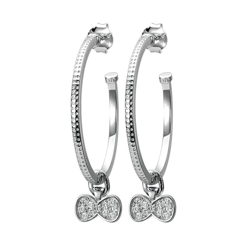 Boucles d'oreilles en argent, oxydes de zirconium, Celestine