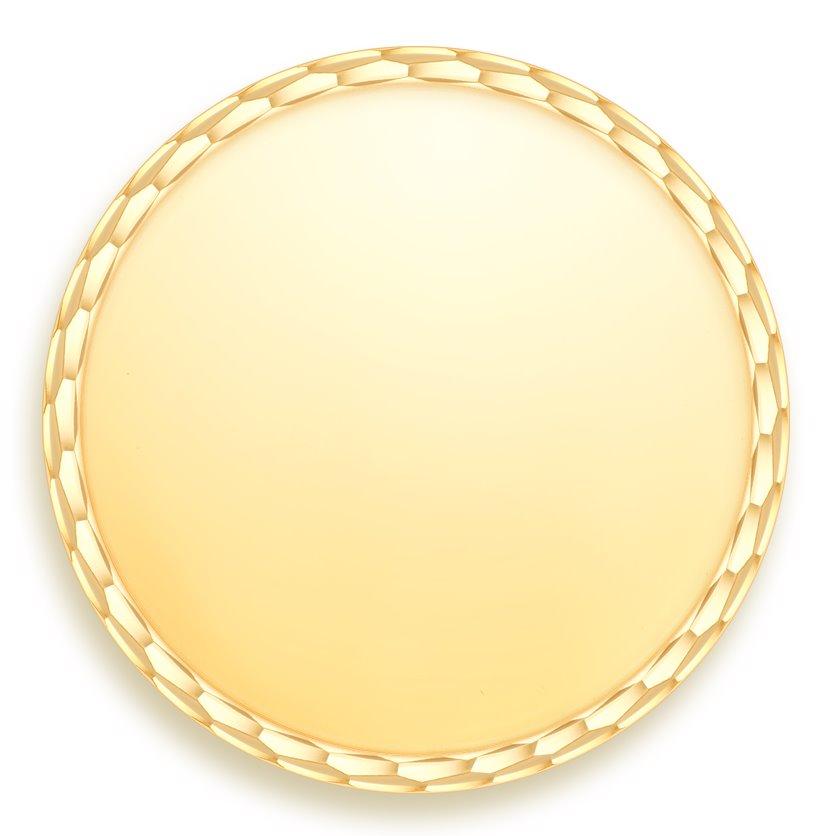 medaille bapteme naissance or jaune 17 mm jeton à graver diveene joailleriemedaille bapteme naissance or jaune 17 mm jeton à gra