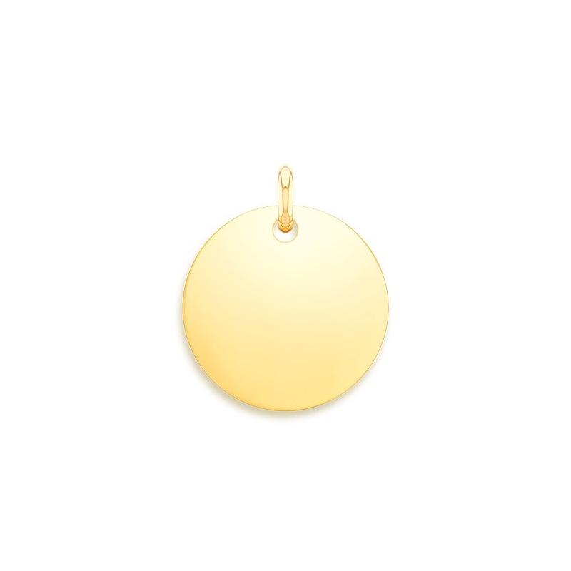 Médaille Baptême Or jaune , Disque à graver