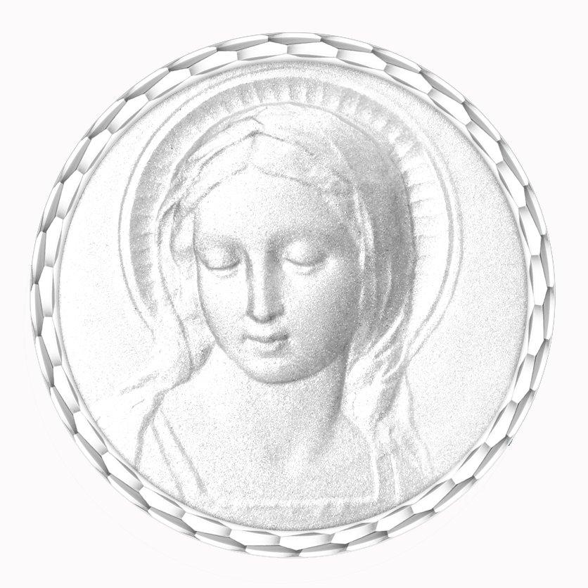 medaille bapteme naissance argent 17 mm vierge amabilis - diveene joaillerie