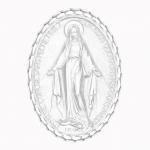 medaille bapteme naissance argent 17 mm miraculeuse diveene joaillerie