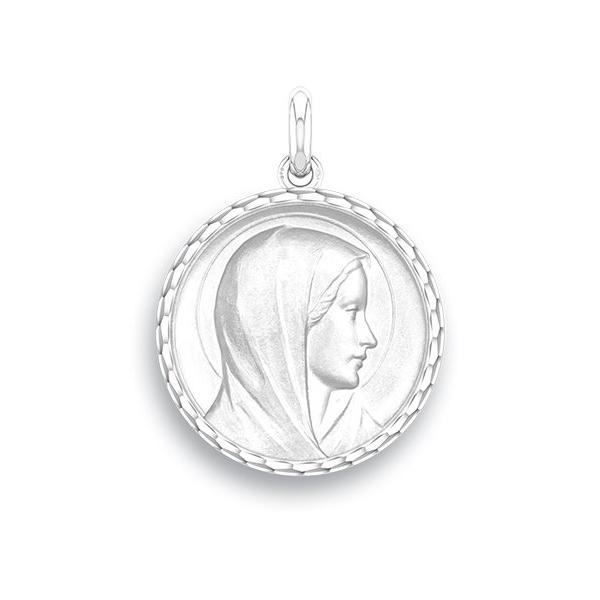 medaille bapteme naissance argent 17 mm annonciation diveene joaillerie