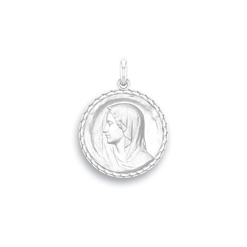 Médaille Baptême Naissance Or blanc , Régina