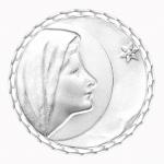 medaille bapteme naissance argent 17 mm vierge de bethleem diveene joaillerie