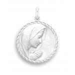 medaille bapteme naissance argent 17 mm vierge en priere diveene joaillerie