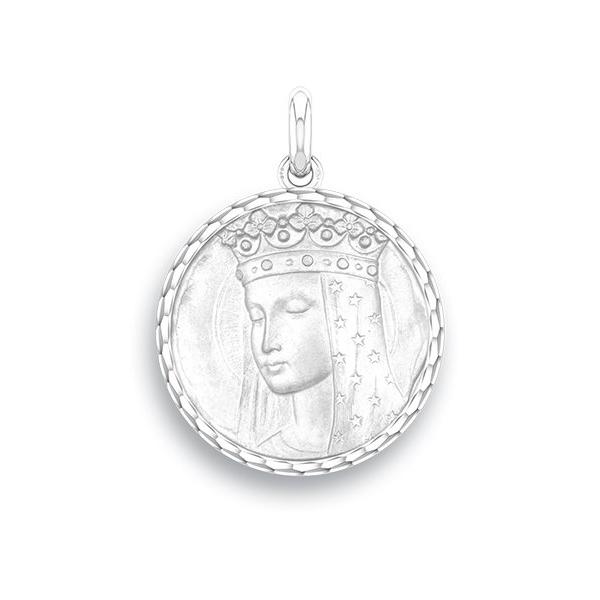 medaille bapteme naissance argent 17 mm vierge aux etoiles diveene joaillerie