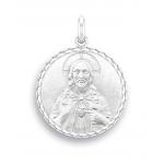 medaille bapteme naissance or blanc 17 mm christ sacre coeur diveene joaillerie
