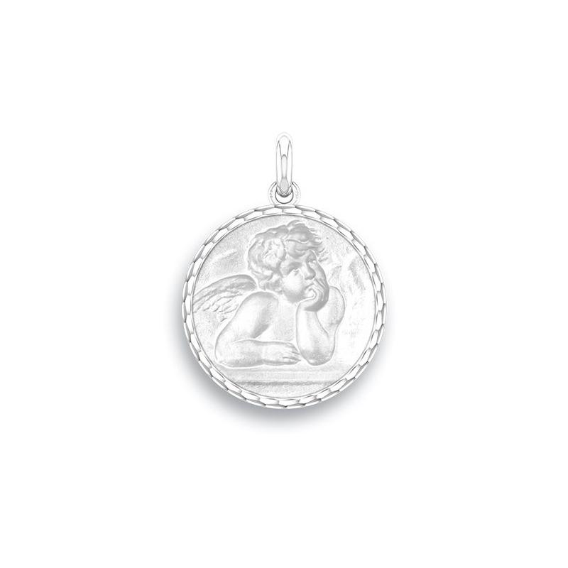 Médaille Baptême Naissance Argent , Ange Raphaël
