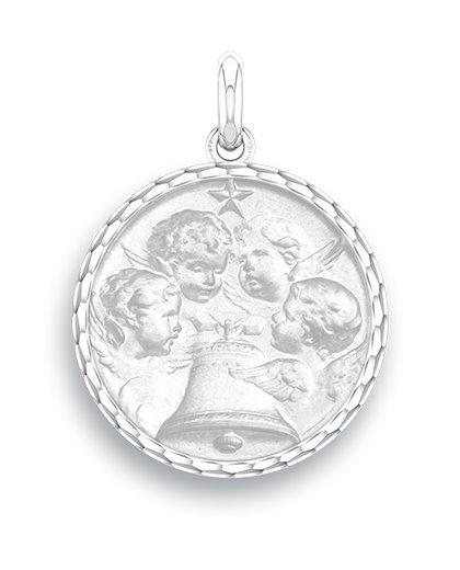 medaille bapteme naissance argent 17 mm angelus diveene joaillerie