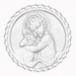 medaille bapteme naissance argent 17 mm enfant jesus diveene joaillerie